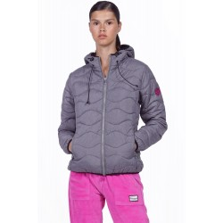 BODY ACTION WOMEN QUILT PADDED JACKET WITH HOOD