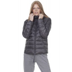 BODY ACTION PUFFER JACKET WITH HOOD grey W