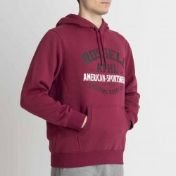 RUSSELL ATHLETIC PULL OVER HOODIE (maroon) M