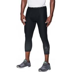 Under Armour HeatGear Graphic ¾ Leggings Mens Training Tight (BLACK)