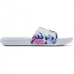 UNDER ARMOUR ANSA GRAPHIC SLIDES (Moonstone Blue/White) W